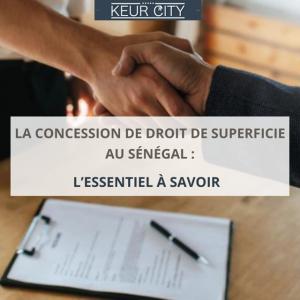 Concession de droit de superficie au Sénégal