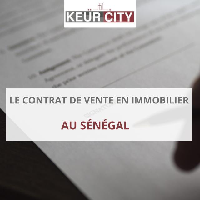 contrat de vente immobilier au Sénégal