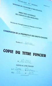 Immatriculation foncière Sénégal