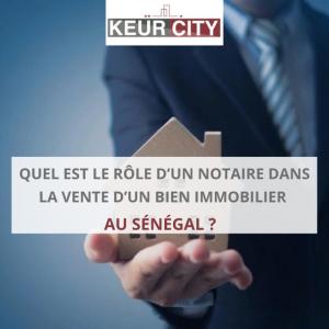 Role notaire immobilier sénégal