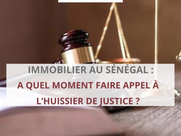 hussier justice immobilier sénégal