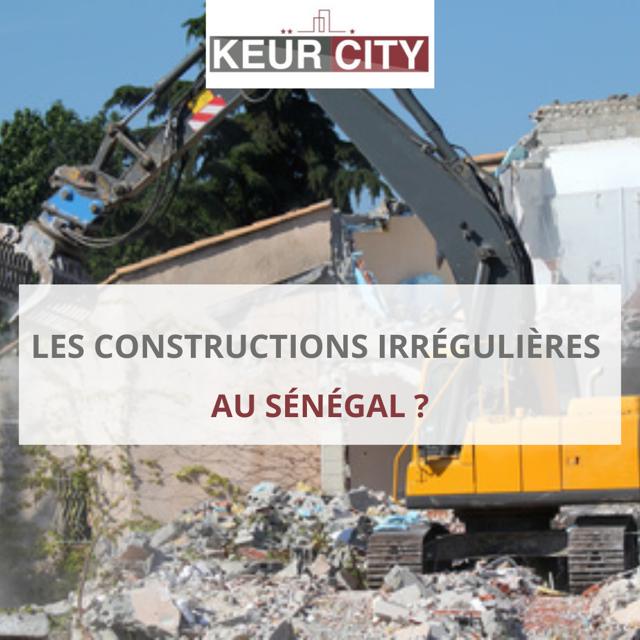 constructions irrégulières au Sénégal